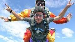 Активное занятие во время отдыха - самый высокий прыжок с парашютом