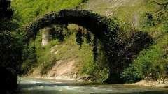 Беслетский мост - одна из самых необычных достопримечательностей абхазии