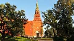 Боровицкая башня московского кремля: история. Как добраться до башни?