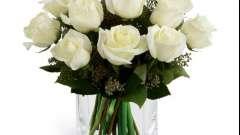 Букет белых роз - символ чистоты
