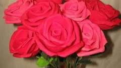 Чайные розы из гофрированной бумаги. Мастер-класс для новичков