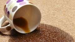 Чем отстирать кофе с белых и цветных вещей?