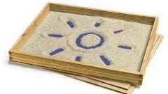 Чем полезно рисование песком на стекле?