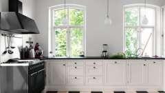 Черно-белая кухня. Магия цвета
