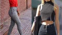 Что носить с джинсами с высокой талией? Советы девушкам