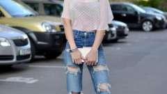 Что носить с рваными джинсами. С какой обувью носить рваные джинсы