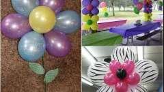 Цветок из шаров: своими руками создаем красоту