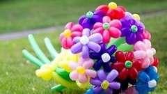 Цветы из шариков колбасок: инструкция по изготовлению