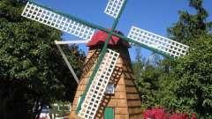 Декоративная мельница для сада: своими руками создаем оригинальное украшение участка