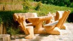 Делаем декоративные скамейки из бревна своими руками