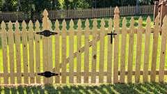 Деревянный штакетник – лучший материал для заборов