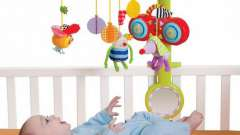 Детские игрушки для раннего возраста: мобили на детскую кроватку