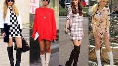 Длинные сапоги на каблуке и без каблука: с чем носить