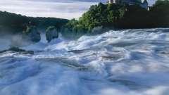 Достопримечательности швейцарии: рейнский водопад