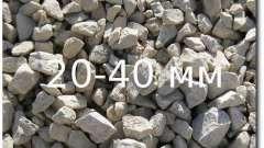 Фракция 20-40 - щебень гранитный: его вес, плотность и другие характеристики
