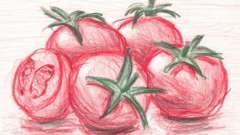 Фрукты и овощи. Загадка про помидор