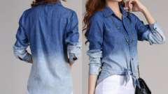Голубая рубашка - модный тренд последнего сезона. С чем сочетать и как носить
