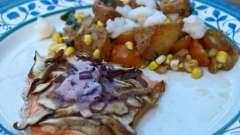 Горбуша, запеченная в духовке с грибами: пошаговый рецепт приготовления