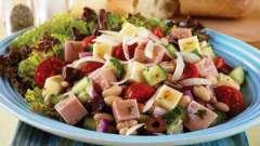 Готовим салат с ветчиной и сыром и ананасами. Рецепт салата «нежность» с ветчиной