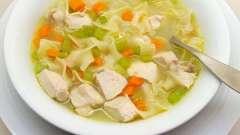Готовим вкусный суп с вермишелью и курицей