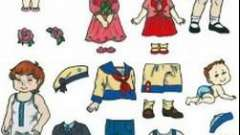 Игры нашего детства: бумажная кукла для вырезания с одеждой