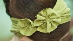 Интересные идеи, как сделать цветок из ткани для головной повязки