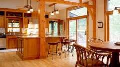 Интересный дизайн деревянных домов внутри
