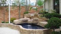 Искусственные водопады в ландшафтном дизайне. Декоративные водопады в квартире своими руками