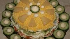 «Изумрудный браслет» - салат с киви