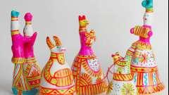 Элементы филимоновской росписи. Технология росписи филимоновской игрушки