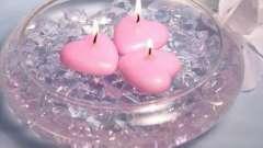 Как изготовить плавающие свечи своими руками
