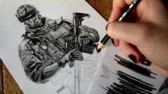Как нарисовать солдата карандашом? Поэтапно рассмотрим несколько способов