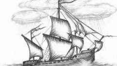 Как нарисовать военный корабль простым карандашом?