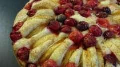 Как печь пирог с брусникой и яблоком? Рецепты