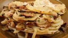 Как приготовить картошку с белыми грибами в духовке