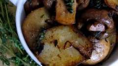 Как приготовить картошку с грибами на сковороде: простой рецепт