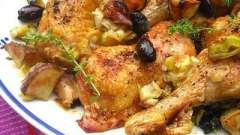 Как приготовить вкусные куриные ножки в духовке с картошкой.