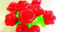 Как сделать цветок из шариков-колбасок? Идеи для цветочных комозиций