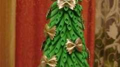 Как сделать елку из макарон своими руками