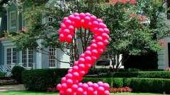 Как сделать из шаров цифру?