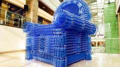 Как сделать кресло из пластиковых бутылок своими руками