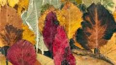 Как сделать панно из осенних листьев своими руками