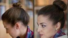Как сделать пучок на короткие волосы?