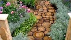 Как сделать садовые дорожки из спилов дерева