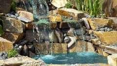 Как сделать водопад своими руками на даче