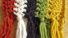 Как связать шарф крючком - несколько примеров