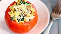 Как вкусно приготовить помидоры фаршированные в духовке