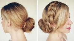 Как выглядит красивая коса на средние волосы
