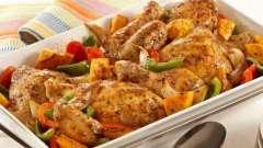Как запечь курицу с овощами? Рецепты с фото