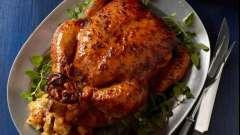Как запечь курицу в мультиварке с фруктами?